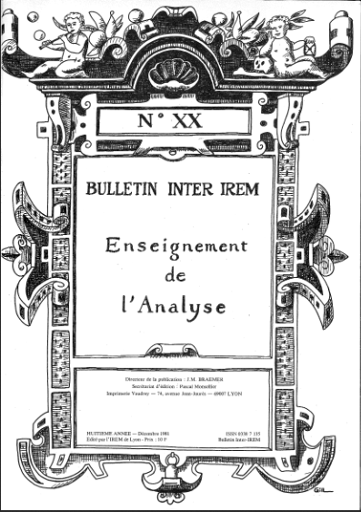 Enseignement de l'analyse